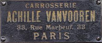 Carrosserie Vanvooren - Image: Vanvooren Badge 1911