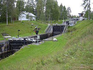 Heinävesi - Image: Varistaipaleen kanava