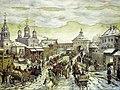 Vasnetsov u Myasnitskih vorot Belogo goroda 1926.jpg