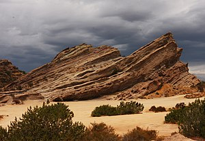 "Rehab (Rihanna song) - The video for ""Rehab"" was shot at Vasquez Rocks Park (pictured), near Los Angeles."