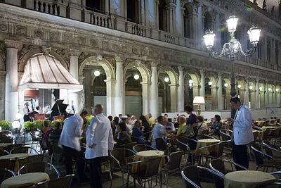 A cafe in Piazza di San Marco