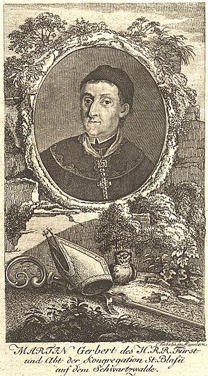 Martin Gerbert - Martin Gerbert, Portrait by Egid Verhelst in Allgemeine deutsche Bibliothek (1785)