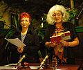 Vienna 2013-08-13 Sittl - 'in memoriam Rolf Schwendter' 063 Agnes Zaunegger, Susanna Schwarz-Aschner (reading).jpg