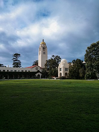The Bishop's School (La Jolla) - The Quad, Bentham Hall, St. Mary's Chapel, and the Tower