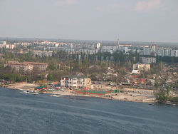 Aerial view of Nova Kakhovka.