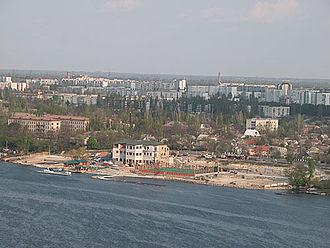 Nova Kakhovka - Aerial view of Nova Kakhovka.