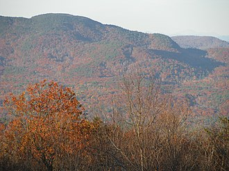 Ragged Mountain (New Hampshire) - Image: View of Ragged Mountain from Mount Kearsarge