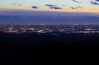 View of the City Area of Toyota from Matsudaira Observation Deck, Matsudaira-cho Toyota 2011.jpg