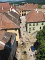 View of the square from the clocktower, finest fortified medaevial town in Europe - panoramio.jpg