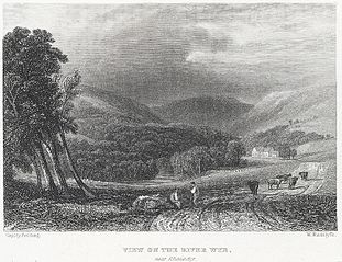 View on the River Wye: near Rhaiadyr