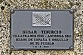 Villafrades de Campos – Monument to Húsar Tiburcio Fernández – Commemorative plaque.jpg
