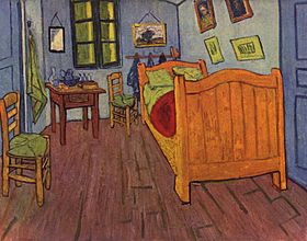 Arles - La chambre de Van Gogh à Arles (Trois versions de ce tableau - 1888, 1889)