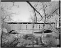 WEST EXTERIOR WALL - Gross Covered Bridge, Spanning Middle Creek, Route 574, Beaver Springs, Snyder County, PA HAER PA,55-BEAVS.V,1-2.tif