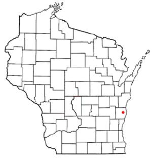 Sheboygan Falls, Wisconsin - Location of Sheboygan Falls in Wisconsin