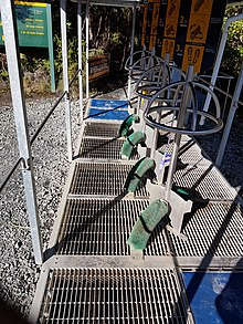 Kauri dieback footwear cleaning station, Waipoua Forest