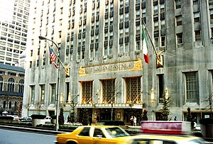 Park Avenue (west) elevation of the Waldorf=As...