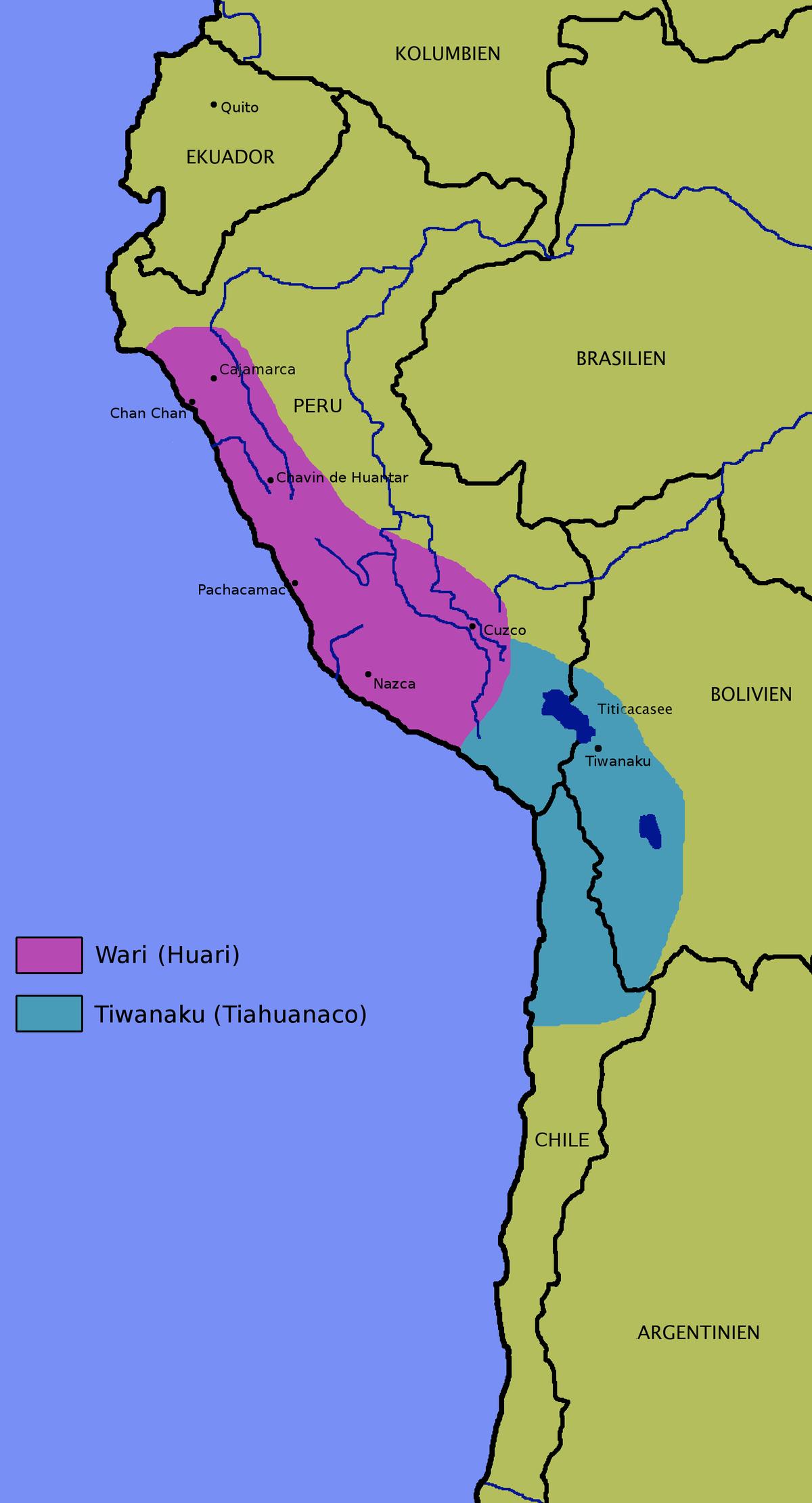 Px Wari Tiahuanaco on Mapa Del Imperio Inca