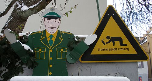 Warning drunken people crossing.JPG