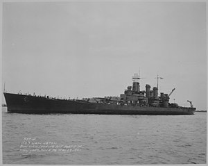 USS Washington (BB-56) - Washington on 29 May 1941 shortly after commissioning on 15 May