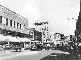Waterbury, Connecticut - Downtown on East Main Street in 1954
