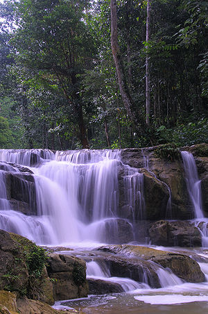 North Kalimantan - Image: Waterfall Idaman A