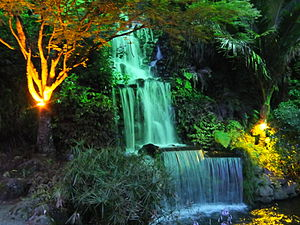 Festival of Lights (New Plymouth) - Pukekura Park, New Plymouth, New Zealand, illuminated during the annual Festival of Lights.