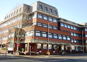 Watford County Court is located on the third a...