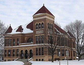 Watonwan County Courthouse - The Watonwan County Courthouse from the northwest