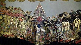 Wayang kulit - The puppet figures of a Javanese wayang kulit.