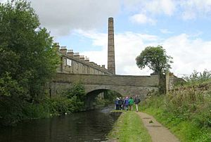 Weavers' Triangle - The Burnley Way passing Sandygate Bridge