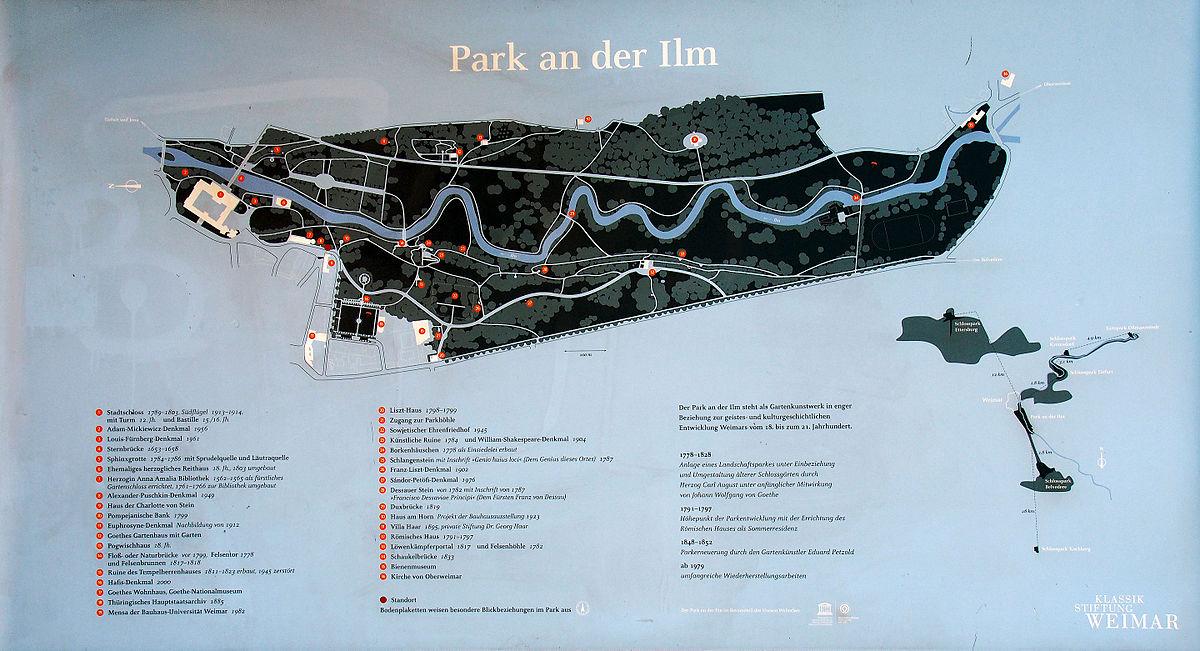 Karte Weimar Und Umgebung.Park An Der Ilm Wikipedia