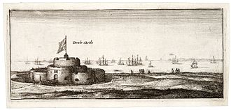 Deal Castle - The castle, depicted by Wenceslas Hollar in the mid-17th century