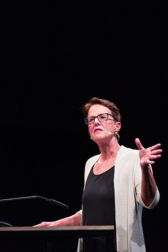 Wendy Brown (political theorist) - Wendy Brown giving the Democracy Lecture at the HKW Berlin in 2017. Photo by Santiago Engelhardt.