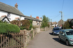 West Buckland, Devon - Image: West Buckland, village street geograph.org.uk 405308