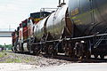 Westbound BNSF unit tank train at Rosenberg TX.jpg
