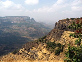 De West-Ghats nabij Matheran in Maharashtra