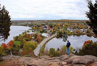 Westport, Ontario - View of Westport from Foley Mountain