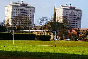 Whifflet - Whifflet Park in Coatbridge looking north