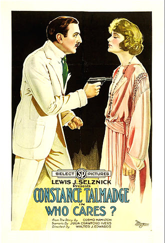 Who Cares? (1919 film) - Film poster