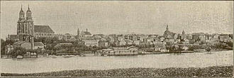 Gniezno - Panorama of Gniezno. 19th century