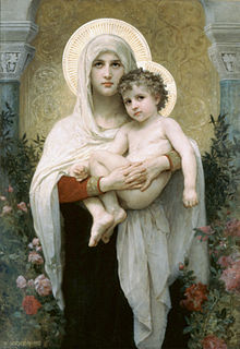 William-Adolphe Bouguereau (1825-1905) - The Madonna of the Roses (1903)