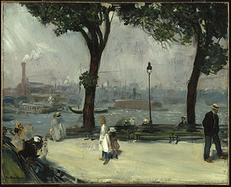 William Glackens - William Glackens. East River Park, ca. 1902. Oil on canvas. Brooklyn Museum