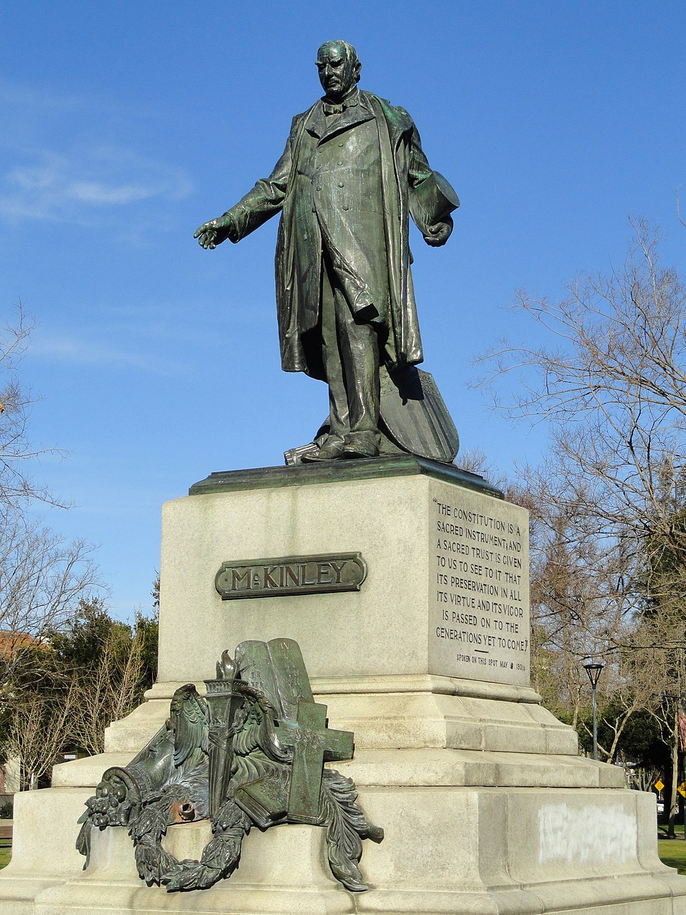 William McKinley statue, San Jose, California - DSC03825