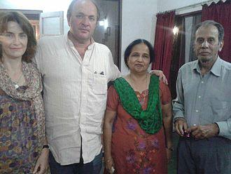 Dulari Qureshi - Historian William Dalrymple seen with Dr Dulari Qureshi at her residence in Aurangabad, Maharashtra