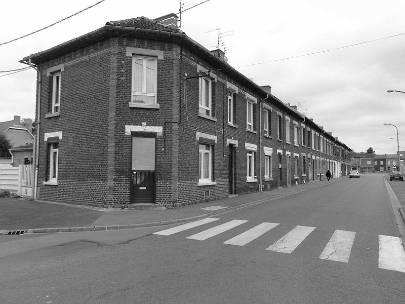 Cité n° 7 de Lens de la fosse n° 7 - 7 bis de la Compagnie des mines de Lens dans le bassin minier du Nord-Pas-de-Calais, Wingles, Pas-de-Calais, Nord-Pas-de-Calais, France.