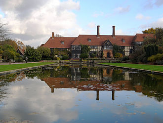 RHS Garden, Wisley - The laboratory at Wisley Garden with the canal in the foreground