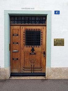 Jakob Burckhardt (1818–1897) art historian lived in St. Alban-Vorstadt 41 in Basel.  (1848–1855) and (1858–1864)