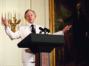 Author Tom Wolfe participates in the White Hou...