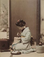 Woman Writing a Letter by Ogawa Kazumasa, Honolulu Museum of Art.JPG