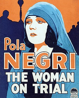 The Woman on Trial - Film poster or trade advert.